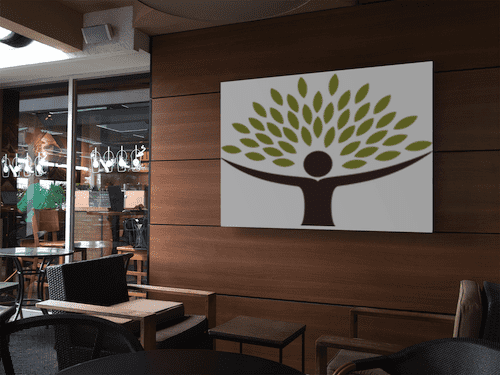 horizontal banner mockup on a coffee shop wall a11295 optimized optimized