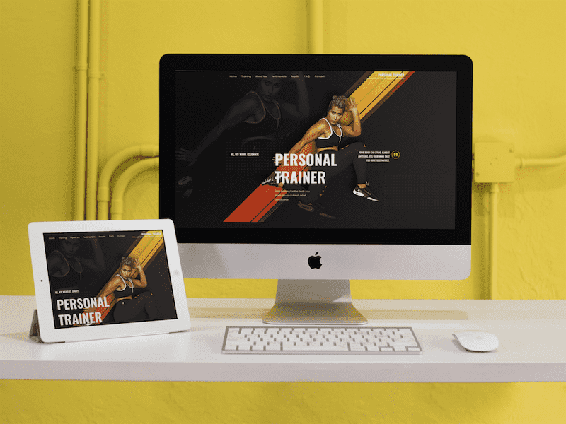 ipad imac responsive mockup in a yellow room a12372 7 optimized optimized